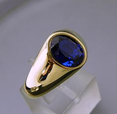 AAA Blue Sapphire Manmade Oval cut Carats yellow gold men's ring 19 grams 0204 – Men's style, accessories, mens fashion trends 2020 Mens Gemstone Rings, Mens Gold Rings, Rings For Men, Blue Sapphire Rings, Saphire Ring, Pink Sapphire, Gents Ring, Men's Jewelry Rings, Jewellery
