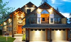 I really don't like big garages infront of a house, but I love the room above it.