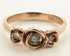 Three Roses ring by Wexford Jewelers.  Oh how I love this in white gold.