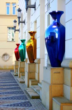 Beautiful, colored, Glass Artwork in the judicial district, City of Luxemburg.