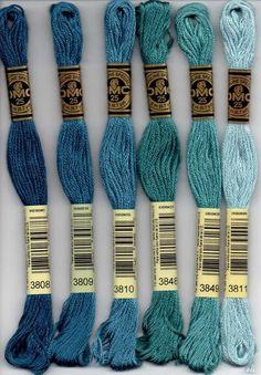 DMC 906 bold light Kelly green stranded floss embroidery thread brand new