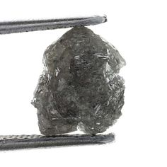 2.54 Ct Carat Fancy Silver GRay Natural  Rough Diamond Gem