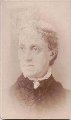 "CDV 13: ""Mrs. Henry Ingham, Belle's Mother."" Her name was Jane Ingham, according to the 1880 Census from Saybrook, Connecticut, which is pinned separately here. She was 42 in 1880. Photo taken by St. John studio, No. 368 Main St., Hartford, Connecticut."