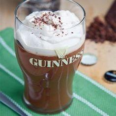 Pudim de chocolate e cerveja Guinness