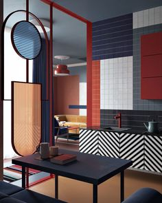 Kitchen Interior Design Another example of a tetradic color scheme, with colder, dark blues and green, and warmer reds and oranges. - If it is not important, there shouldn't be more than 5 Small kitchen renovation ideas. The concerns for cooking area