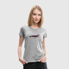 Matroos T-Shirts - Bemanning anker matroos - Vrouwen premium T-shirt grijs gemêleerd T Shirt Women, T Shirts For Women, T Shirt Designs, Doce Banana, T Shirt Sport, Pullover, Women Brands, Custom Clothes, Heather Grey