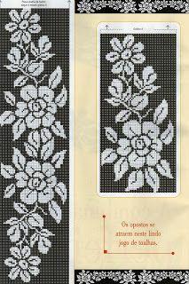 Crochet Knitting Handicraft: Point Cruz / Crochet N º 19 Cross Stitch Bookmarks, Cross Stitch Borders, Cross Stitch Alphabet, Cross Stitch Flowers, Cross Stitching, Cross Stitch Embroidery, Cross Stitch Patterns, Beading Patterns, Embroidery Patterns