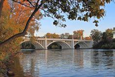 Twyckenham Dr. Bridge over the St. Joseph River, South Bend, Indiana