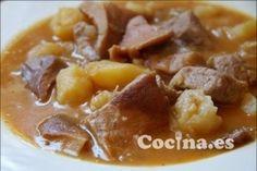 Receta de Guiso de carne de ternera con patatas