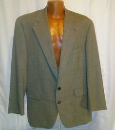 6a771188a Details about Chaps by Ralph Lauren Mens Vintage Gray Wool Striped Sports  Blazer Size 46R