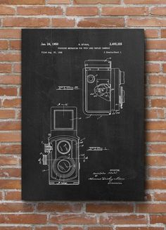 Vintage Camera Patent Print Vintage Camera Poster Home by dalumna (Tech Office Wall) Vintage Camera Decor, Vintage Cameras, Vintage Wall Art, Vintage Walls, Vintage Posters, Vintage Photos, Patent Prints, Vintage Bicycles, Unique Home Decor