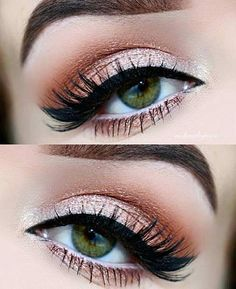 Peach and cream eye makeup look. Make-up for eyebrows, blue eyes . - Peach and cream eye makeup look. Make-up for eyebrows, blue eyes, green eyes and … – - Neutral Eye Makeup, Red Eye Makeup, Pretty Eye Makeup, Orange Makeup, Eye Makeup Tips, Makeup Hacks, Pretty Eyes, Makeup Goals, Skin Makeup