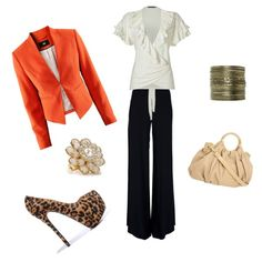 First Day of Work! My first outfit from Polyvore!!