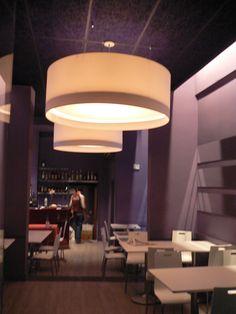 Iluminación interior de restaurantes.