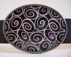Belt Buckle Swirls Jada wearable art by MnMTreasures on Etsy, $20.00