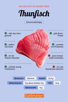 Das solltest du über Thunfisch wissen | eatsmarter.de #thunfisch #fisch #infografik