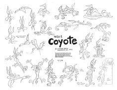 Wile E. Coyote (Looney Tunes) model sheet.
