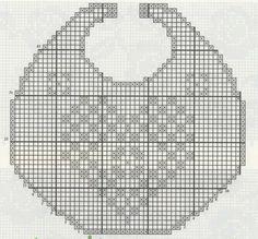 Babero crochet patron
