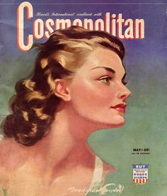 Cover art for the May issue of Hearst's International combined with Cosmopolitan magazine, United States, by Bradshaw Crandell. Life Magazine, Magazine Art, Movie Magazine, Vintage Girls, Vintage Ads, Fashion Magazine Cover, Magazine Covers, Divas, Cosmopolitan Magazine