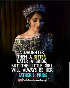 Dad Quotes From Daughter, Love My Parents Quotes, Mom And Dad Quotes, I Love My Parents, Crazy Girl Quotes, Father Quotes, Family Quotes, Girly Attitude Quotes, Girly Quotes