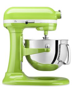 I would love a Kitchen Aid mixer in lime green!!!  or red.... or turquoise...  lol