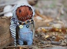 Купить Pumpkin. - рыжий, тыква, тыквоголовки, тыквы, тыковка, в полоску, хеллоуин, страшилки, Страшные игрушки