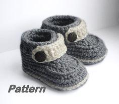 Ganchillo fácil patrón de botitas de bebé bebé por Beatifico