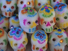 Sugar Skulls are Exchanged Between Friends for Day of the Dead Festivities, Oaxaca, Mexico