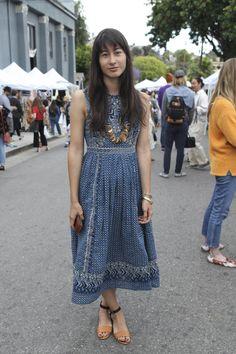 Street style at the Echo Park Craft Fair [Photo: Katie Jones]