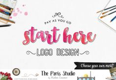 Custom Logo Design Business Branding Watercolor Floral Logo Design Website Logo Blog Logo