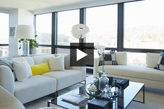 Montreal designer Scott Yetman designed a modern condo with clean lines and warm, luxurious finishes. See how his new layout maximizes space in the main livi. Small Studio Apartment Design, Condo Interior Design, Condo Design, Room Interior, Condominium Interior, Condo Decorating, Interior Decorating, Decorating Ideas, Inspiration Design