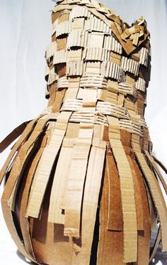 Cardboard Dress Front by cardboard-everywhere.deviantart.com on @DeviantArt