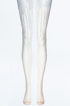 Glitter Melt Melting Tights | URB $55.00 kind of looks like you had an accident and peed glitter but it reminds me of Ke$ha!