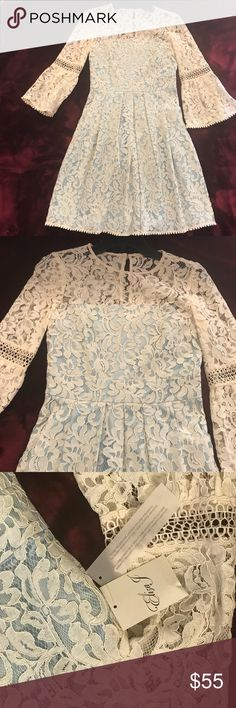 Bell Sleeve Fit & Flare Dress Bell Sleeve Fit & Flare Dress Eliza J Light blue lining  Size 2 Love it!!! Eliza J Dresses Mini