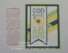 Stampin' Up Bravo photopolymer sneak peak.  Altered stamp to allow for multi-colored images.