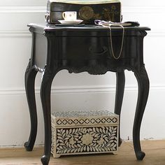 Sassy Boo Black Bedside Table|Bedside Tables|Tables|French Bedroom Company