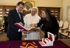 Spanish Prime Minister Mariano Rajoy, became the first European leader to meet with Pope Francis, with the Vatican saying the two discussed the countrys steep economic crisis.  The Vatican said in a statement that their talks focused on the economic crisis that Spain is facing along with other European countries, which has provoked a grave empl