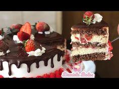 BOLO LEITE NINHO COM MORANGOS | DELICIOSO - YouTube Mousse, Coco, Food And Drink, Jar, Desserts, Chocolates, Cakes, Youtube, Strawberry Filling