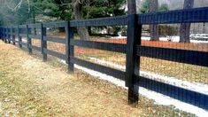 Horse Fencing with Welded Wire Horse Fencing, Fences, Outdoor Stuff, Outdoor Decor, Third Rail, Home Estimate, Rail Fence, Acre, Equestrian