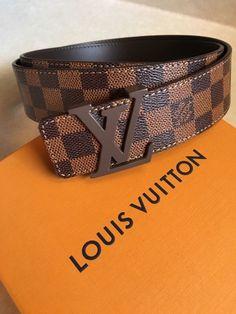 19c0e48e9249 Louis Vuitton Damier Ebene Belt. 100-40. Fits 34-38