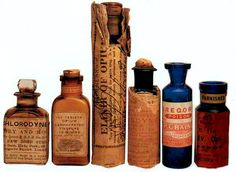 Cure-alls (Opium varieties)...would love to have some of these old bottles!!