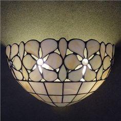 12 Inch Deux-lampes Tiffany Lampe murale Fait à la main Coquille Matériel
