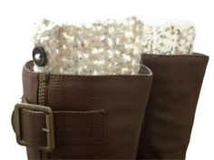 Womens Boot Socks , Cream Wool with Buttons , Boot Cuffs on Etsy, $18.50