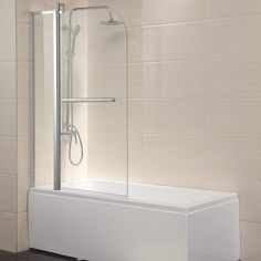WaaGee Radius Frameless Shower Door Clear Glass Chrome Finish Over Pivot Bath *** Details can be found by clicking on the image. Bathtub With Glass Door, Bathtub Shower Doors, Bath Shower Screens, Frameless Sliding Shower Doors, Glass Shower Doors, Bath Tub, Glass Doors, Organize Bathroom Countertop, Bathroom Organization