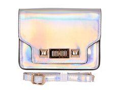 shiny fashion bag silver