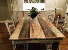 Rustic Barnwood Farm Table Dakota Collection Made in by ReBarnCHF