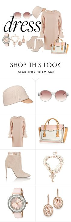 """""""New Trend Bell Sleeve Dress - Plus Size"""" by tweedleduh on Polyvore featuring Balenciaga, Gina Bacconi, River Island, Sergio Rossi, Betsey Johnson, Ted Baker, Kevin Jewelers, plussizefashion and bellsleevedress"""