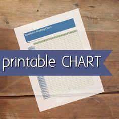 printable newborn feeding chart image