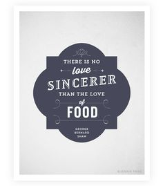Art Print  Food Quote  Typographic Print  Kitchen by SweetFineDay, $20.00