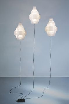 Hand made light Cloud City originates from a process centered on paper. By Well Well Designers